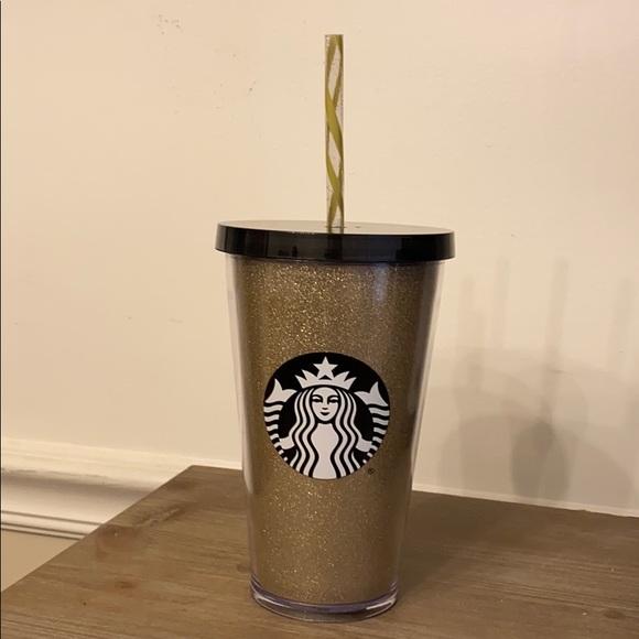 Starbucks Gold Glitter Tumbler.